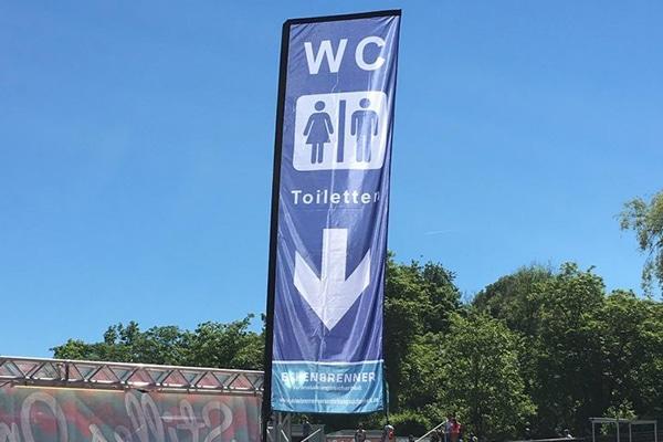 WC-Fahne Klo Toilette Eichenbrenner Veranstaltungssicherheit EVS Safety Konstanz Bodensee